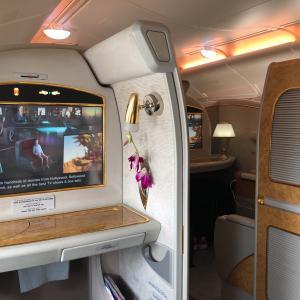 エミレーツ航空ファーストクラス ドバイ~ウィーン往復EK-127/EK128