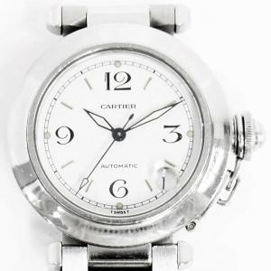 Cartier カルティエ パシャC 2324 AUTOMATIC ボーイズ 腕時計 白文字盤 デイト 防水100M