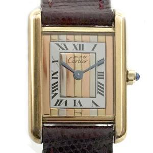 Cartier カルティエ マストタンク ヴェルメイユ 925 スリーゴールド ストライプ