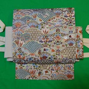 蘇州刺繍の素敵な袋帯を作り帯に・・・