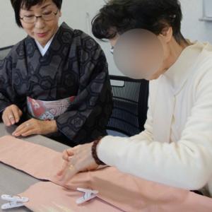 源氏物語のピンク色のなごや帯・・・