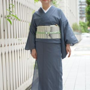 透け感あり涼しげな夏大島紬・・・