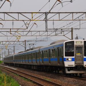 早朝の通勤電車