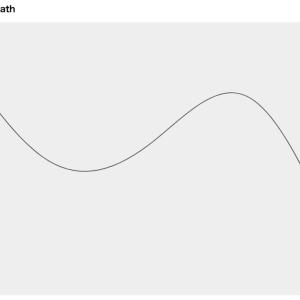 【d3.js / v5】SVGで曲線(Path)を描く基本