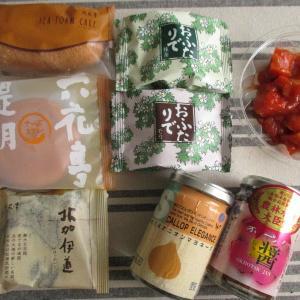 北海道物産展で買ったもの しんや ほたてエレガンス オホーツク醤 六花亭 おふたりで 鮭キムチ