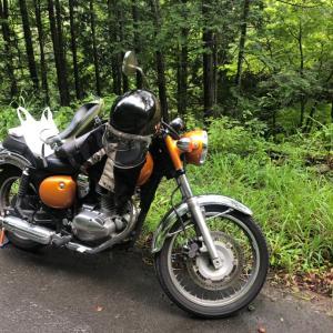 バイクに乗ってヤマメの川へ