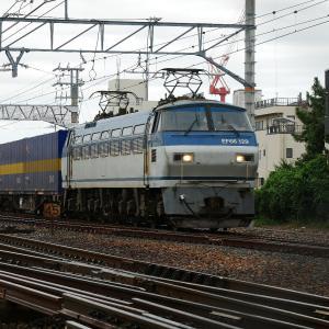 高塚駅の遅8052レ EF66-129  2019.10.14