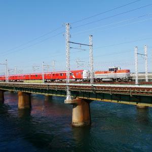 第1浜名橋梁の東京メトロ2000系の甲種輸送 2116編成