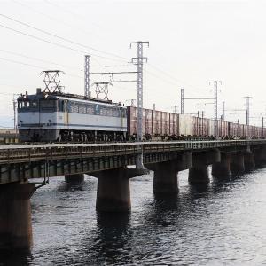 第1浜名橋梁の5087レ EF65-2095  2010-1-11