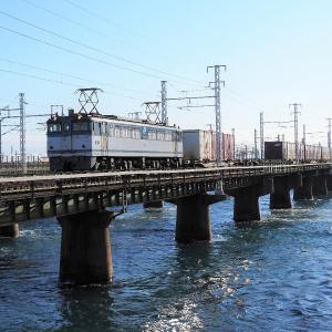 第1浜名橋梁の5087レ EF65-2050   2020.1.19