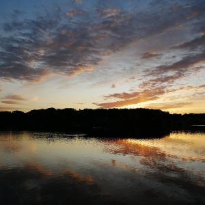 1月24日の佐鳴湖畔 美しい朝焼け