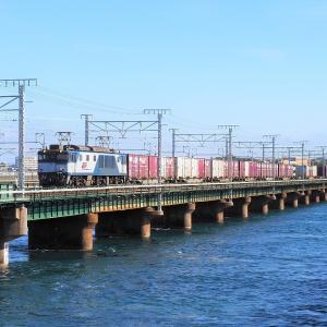 第3浜名橋梁の3075レ EF64-1015   2020.1.19