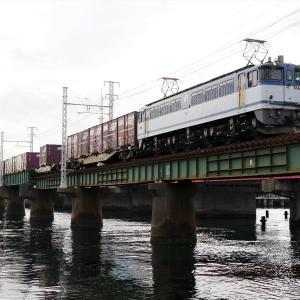 第1浜名橋梁の5087レ EF65-2063   2020.2.22