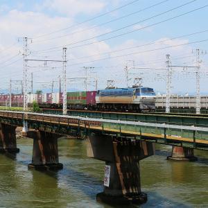 第1浜名橋梁の遅貨物 EF66-125  EF210-128    2020.8.1