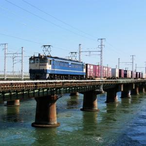 第1浜名橋梁の遅5087レ EF65-2086   2020.10.31