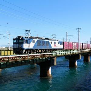 第1浜名橋梁の3075レ EF64-1013    2020.11.21