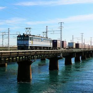 第1浜名橋梁の5087レ EF65-2057   2020.11.28