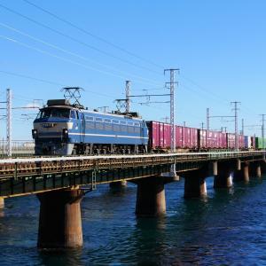 第1浜名橋梁のEF66-27    1089レ  2021.1.10