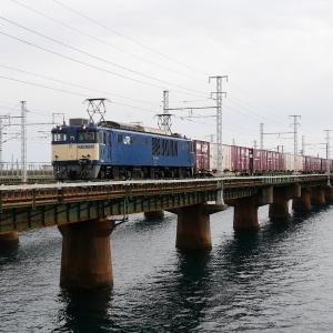 第1浜名橋梁の3075レ EF64-1049    2021.1.17