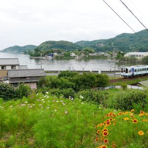 梅雨空の天竜浜名湖鉄道 プリンス岬と「ゆるキャンΔ」×天浜線ラッピング列車