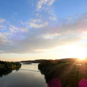 9月9日の佐鳴湖畔 雨上がりの夕方