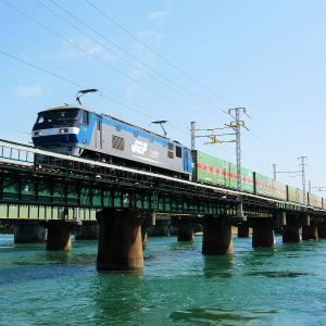 第1浜名橋梁のFukuyama Rail Exp. EF210-163    2021.9.25