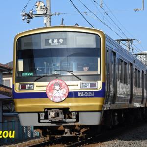 2020年1月01日 伊豆箱根鉄道 ラブライブ サンシャイン 新デザインのバースデイHM (黒澤ダイヤちゃん)