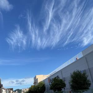 秋のそ~ら、青い空 流れる、雲遥か