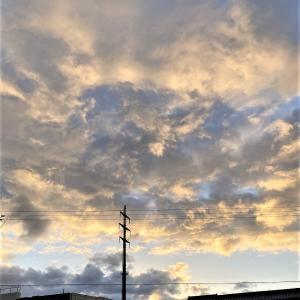 凄い雲が頭上に