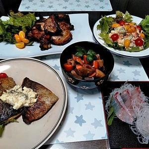 島根県産マハタのお刺身と釣ってきたシオのソテー♪♪・・・包丁のプレゼントは、刃物屋ドットコムにお任せ下さい!!