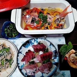 長崎産ヨコワのお刺身とBRUNOでキンメダイのアクアパッツァ♪♪・・・包丁のプレゼントは、刃物屋ドットコムにお任せ下さい!!