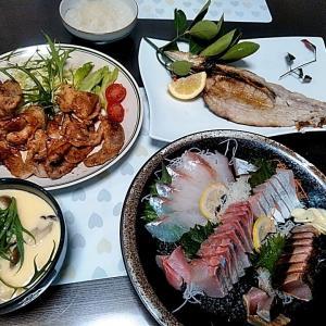 シマアジとヤガラの刺身とヤイトカツオのタタキ♪♪・・・包丁のプレゼントは、刃物屋ドットコムにお任せ下さい!!