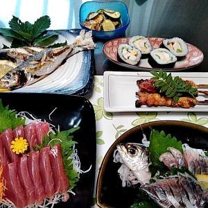串本のカセで釣ってきたアジのお刺身とイサキとアジの塩焼き♪♪・・・包丁のプレゼントは、刃物屋ドットコムにお任せ下さい!!