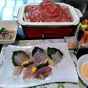 地元産ソイと石鯛のお刺身とBRUNOで牛肉蒸し焼き♪♪・・・包丁のプレゼントは、刃物屋ドットコムにお任せ下さい!!