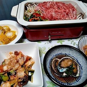 アワビの蒸し煮とタコのキムチ和えと熊本牛のBRUNO鍋の蒸し焼き♪♪・・・包丁のプレゼントは、刃物屋ドットコムにお任せ下さい!!