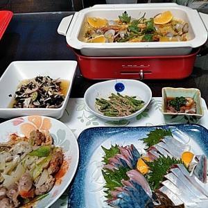 しめ鯖とBRUNOでパエリアと砂肝の塩焼きとナマコ酢♪♪・・・包丁のプレゼントは、刃物屋ドットコムにお任せ下さい!!