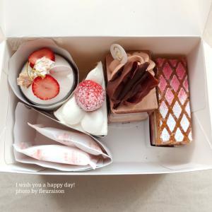 【おうちカフェ】お祝いケーキは「Ryoura」のケーキで♡