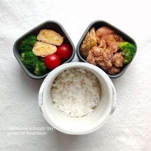 【食育日記】5/31No.1330♡りんご酢で酸味を♡息子弁当「生姜風味の鶏もも肉の唐揚げ弁当」