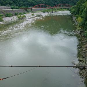浦川も増水&濁り
