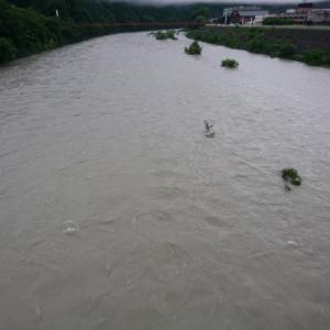 雨は降らぬが後に増水