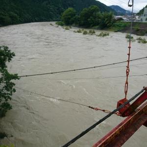 大入川からの濁り