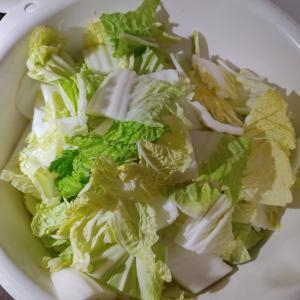 白菜キムチを漬けました。