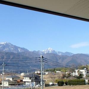 日本を代表する山に囲まれて