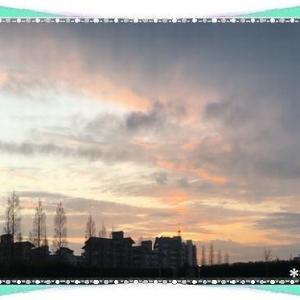 今日は夏目漱石の日&先日の夕景♪