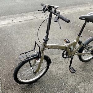 折りたたみ自転車を購入しました。