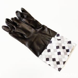 モノトーンでおしゃれな袖付きゴム手袋