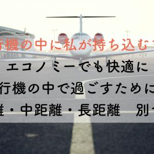 飛行機の中に私が持ち込むもの エコノミーでも快適に飛行機の中で過ごすために〜