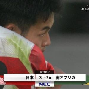 【夢の終わり】ラグビーW杯準々決勝『日本代表vs南アフリカ代表』は3対26で日本が敗戦しベスト8で終了(自国開催でベスト8と立派に戦ったと思います!あとラグビーの格言を紹介)