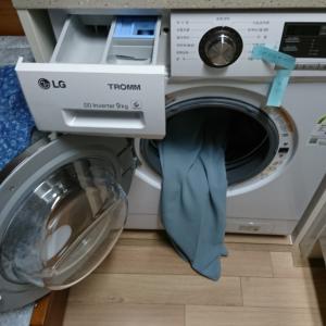 韓国テグで初めて洗濯する
