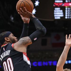 【NBA】POR対IND 軽やかな動きを見せる絞ったカーメロさん